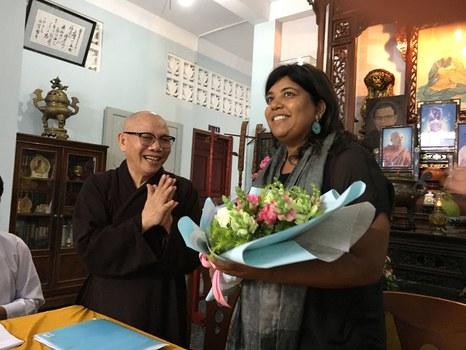 Ủy viên USCIRF-bà Anurima Bhargava trong chuyến thăm và gặp gỡ các tổ chức tôn giáo tại VN