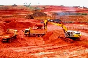 Công trường khai thác bauxite ở Tây Nguyên