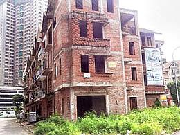 Một công trình xây dựng bị tạm ngưng ở Hà Nội. RFA