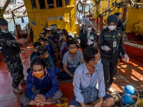 Hình minh hoạ. Ngư dân Việt Nam bị phía Indonesia bắt giữ ở vùng biển Natuna vì cáo buộc đánh cá trộm. Hình chụp hôm 4/3/2020 ở Batam, Kapulauan Riau