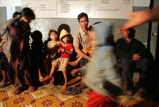 Hình minh hoạ. Người Thượng tị nạn tại Campuchia năm 2004