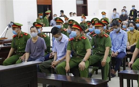 Phiên toà xét xử 29 người dân Đồng Tâm ở Hà Nội hôm 7/9/2020.