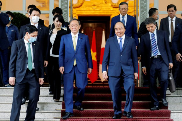 Thủ tướng Suga Yoshihide và Thủ tướng Nguyễn Xuân Phúc