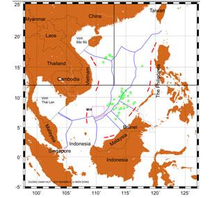Bản đồ 1: Vùng Trung Quốc cấm đánh cá hầu như chỉ ảnh hưởng đến Việt Nam. Photo courtesy of seasfoundation.org