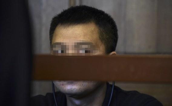 Bị cáo Nguyễn Hải Long, một công dân Việt Nam sống tại Cộng hòa Séc tại phiên tòa. 4/2018.