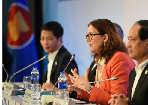 Cao ủy Thương mại của EU, bà Cecilia Malmström, người sẽ đến Hà Nội ký kết EVFTA với Việt Nam vào ngày 30/6/2019.