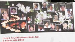 Hình ảnh 17 giáo dân đang bị giam giữ vì ủng hộ và làm truyền thông cho dòng Chúa Cứu Thế, Hà Nội.-RFA Photo