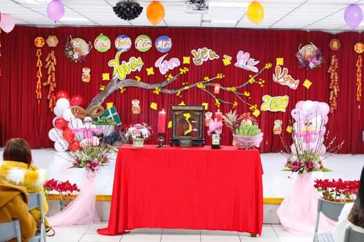 Sân khấu mừng Tết Nguyên đán Canh Tý 2020 của người Việt tại Đài Loan hôm 26/1/2020