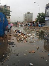 Một khu phố ở Angola, nơi có người Việt sinh sống, ảnh chụp tháng 5 năm 2013. RFA PHOTO.