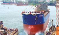 Tàu do Vinashin đóng đang hạ thuỷ- Vinashin photo