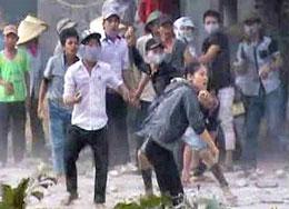 Hình ảnh vụ việc Mỹ Yên trên đài VTV1 (2)