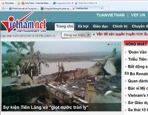 Nhà ông Đoàn Văn Vươn không nằm trong diện tích cưỡng chế nhưng đã bị phá ủi sập. Screen  capture/vietnamnet