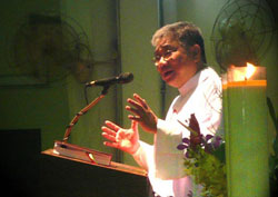 Linh mục Vinh sơn Phạm Trung Thành – Giám tỉnh Dòng Chúa Cứu Thế tại Sài Gòn hôm 26-06-2011. Courtesy dcct.