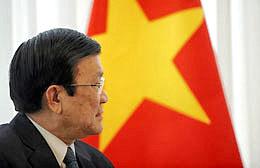 Chủ tịch Nước Việt Nam Trương Tấn Sang. AFP