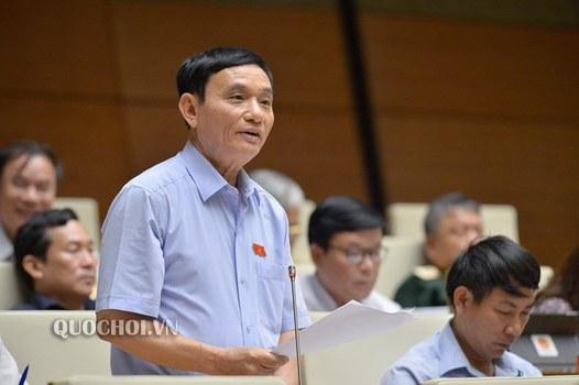 Đại biểu Bùi Quốc Phòng tại phiên họp Quốc hội ngày 22/10/2020.