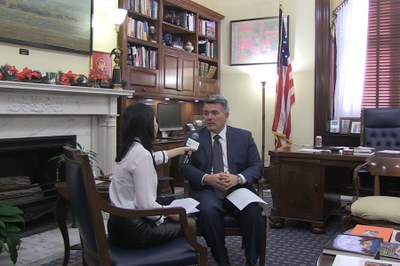 Thượng Nghị sĩ Cory Gardner trả lời phỏng vấn với RFA tại Washington, D.C. hôm 18/12/2018.