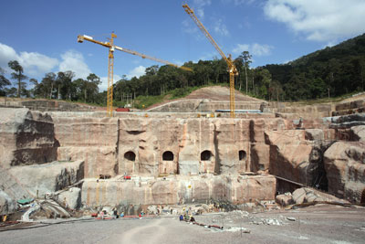 Đập thủy điện Nam Thiên 2 của Lào chụp ngày 26/11/2005.