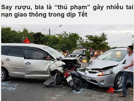 Ảnh minh họa: Ủy ban An toàn Giao thông Quốc gia thống kê có đến 70% số vụ tai nạn giao thông trong năm 2018 là do lái xe uống rượu bia.
