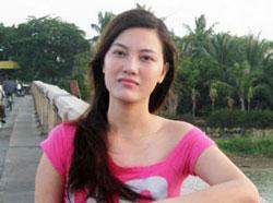 Cô Huỳnh Thục Vy, một cây bút trẻ trong nước, ảnh chụp trước đây. File photo.