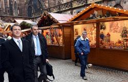 Hội chợ Giáng sinh và Năm mới ở Strasbourg, Pháp hôm 26-12-2012. AFP photo.