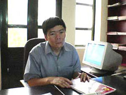 Luật sư Trần Vũ Hải tại văn phòng. Source RFA file