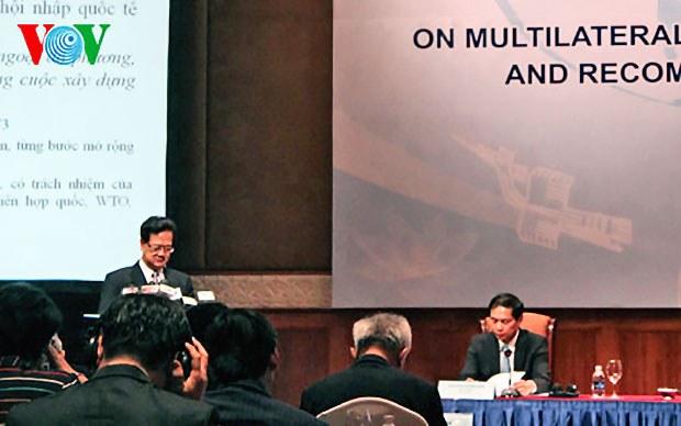 Thủ tướng Nguyễn Tấn Dũng phát biểu về ngoại giao đa phương tại Hà Nội ngày 12 tháng 8, 2014