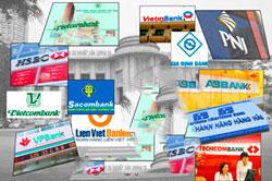Ảnh minh họa các ngân hàng ở VN. RFA file