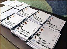 Các tài liệu được cung cấp cho khách mời của sự kiện tại Palais Des Nations ở Geneve (Files photos)