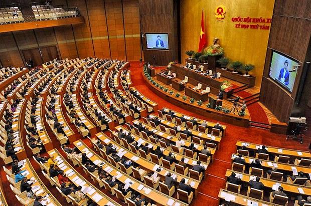 Đại biểu tham dự kỳ họp thứ hai hàng năm của Quốc hội tại Hà Nội ngày 20 tháng 10 năm 2014.