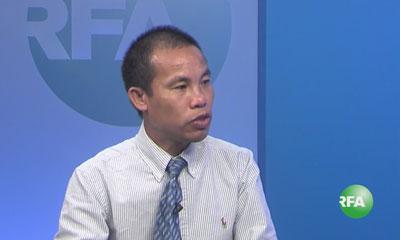 Ông Trương Minh Tam tại trụ sở RFA ở Washington DC hôm 12/6/2015. RFA PHOTO.