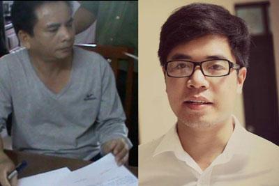 Ông Bùi Hiếu Võ (trái) và anh Phan Kim Khánh, hai người bị bắt trong tháng 3 với cáo buộc tuyên truyền chống nhà nước.