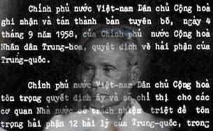 Công hàm ông Phạm Văn Đồng gửi Trung Quốc