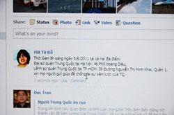 Kêu gọi biểu tình chống Trung Quốc tại các diễn đàn trên internet. Citizen Photo.