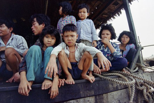 Những đứa trẻ Việt Nam trở về nước từ Campuchia hôm 24/3/1993.