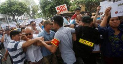 Ảnh minh họa an ninh Việt Nam đàn áp người dân.