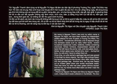 Triển lãm 'Photovoice: Rác-Sống và Ngẫm' trình bày hình ảnh và câu chuyện của người thu gom rác dân lập tại Tp HCM.