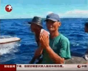 Các đài truyền hình Trung Quốc phổ biến tin tức bắt ngư dân Việt Nam . RFA screen capture