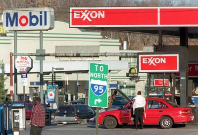 Một cửa hàng xăng dầu thuộc Exxon Mobil ở Mỹ.