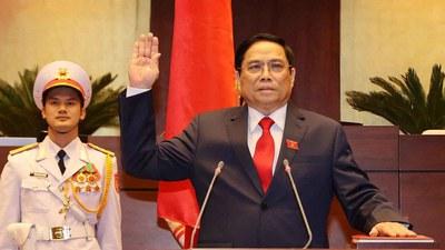 Ảnh minh họa: Ông Phạm Minh Chính - Tân Thủ tướng nước Cộng hòa Xã hội Chủ nghĩa Việt Nam, tuyên thệ nhậm chức hôm 5/4/2021.
