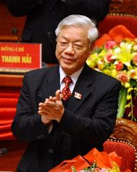 Ông Nguyễn Phú Trọng, Ủy viên Bộ Chính trị và Chủ tịch Quốc hội, tại Đại hội lần thứ 11 của Cộng sản Việt Nam Đảng (VCP) tại Hà Nội ngày 12 tháng 1 năm 2011. AFP PHOTO / HOANG DINH Nam.