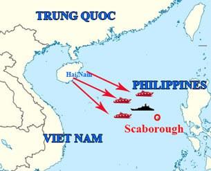Bản đồ khu vực tranh chấp Scarborough