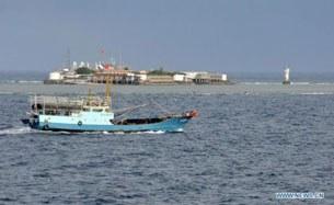Chiếc tàu đầu tiên thuộc 30 tàu đánh cá TQ có tàu ngư chính hộ tống, đã đến đảo Chữa Thập – mà Trung Quốc gọi là đảo Vĩnh Thử - của Việt Nam thuộc quần đảo Trường Sa vào ngày 15 tháng 7, 2012.