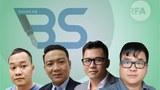 Các thành viên nhóm Báo Sạch (từ trái qua): Đoàn Kiên Giang, Nguyễn Thanh Nhã, Nguyễn Phước Trung Bảo, Trương Châu Hữu Danh