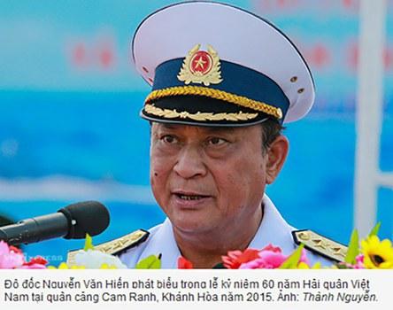 Đô đốc Nguyễn Văn Hiến, cựu Thứ trưởng Bộ Quốc phòng đang chờ phía Chính phủ kỷ luật sau khi đã bị kỷ luật đảng vào ngày 21/06/19.