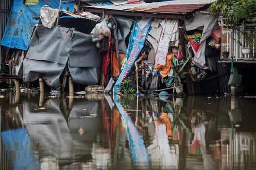 Hình minh hoạ. Hình chụp hôm 13/10/2018: khu dân cư nghèo bên kênh Xuyên Tâm ở thành phố Hồ Chí Minh