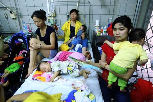 Ảnh minh họa: Bệnh nhân nhi tại một bệnh viện ở Hà Nội.