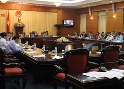 Hội nghị của các đại biểu Quốc hội về đầu tư hôm 11/4/2014 tại Hà Nội. Courtesy vov.