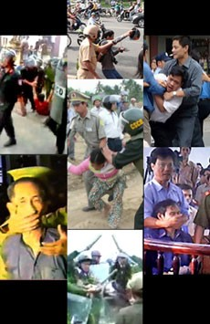 """Công an Việt Nam """"thi hành công vụ"""". RFA  file"""