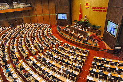 Một phiên họp Quốc hội Việt Nam, ảnh minh họa.