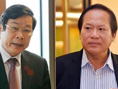 Cựu Bộ trưởng Nguyễn Bắc Son (trái) và Trương Minh Tuấn
